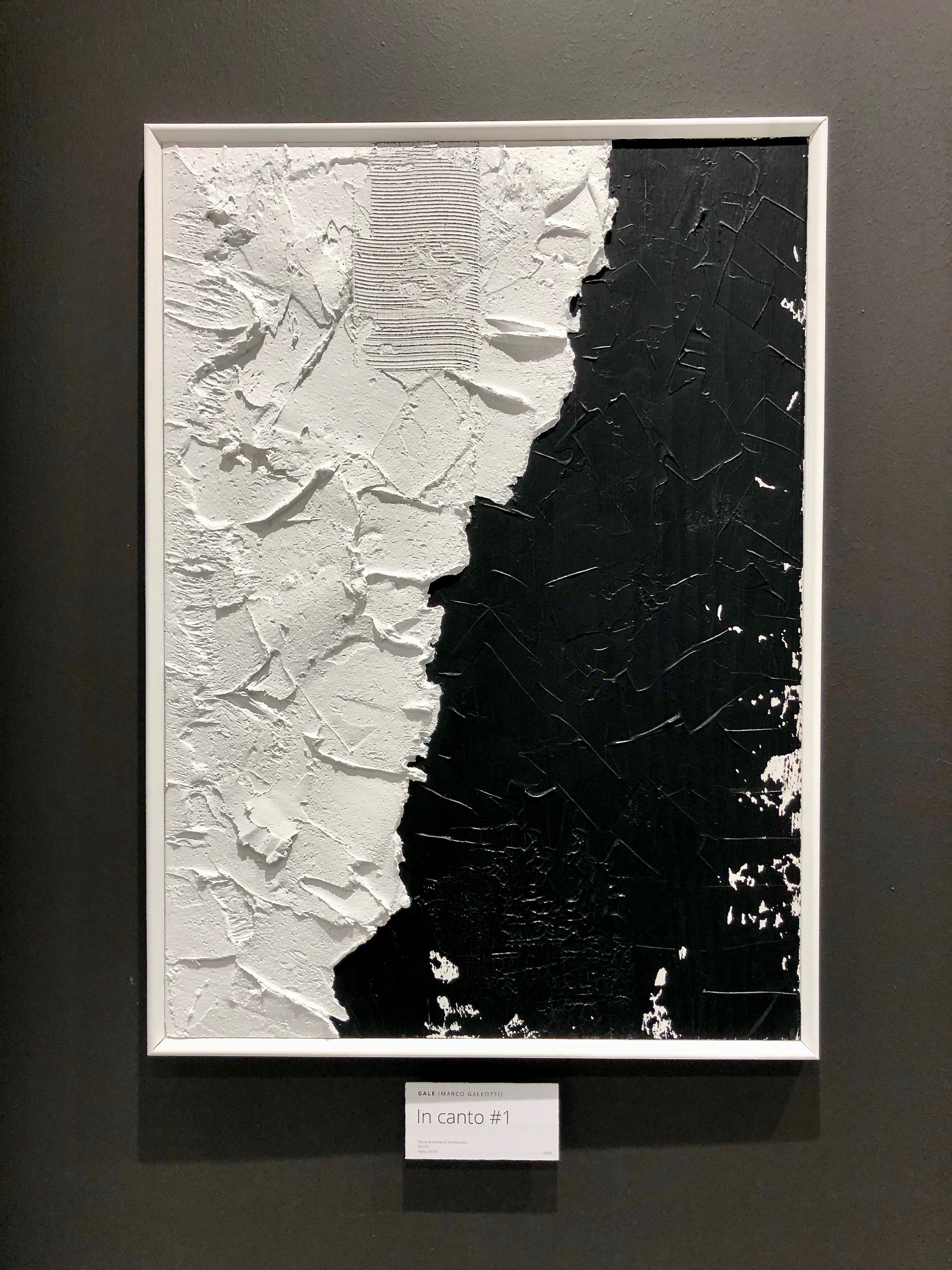 IN CANTO #1 - Plaster and acrylic on 12mm plywood, 50x70cm, framed - AVAILABLE