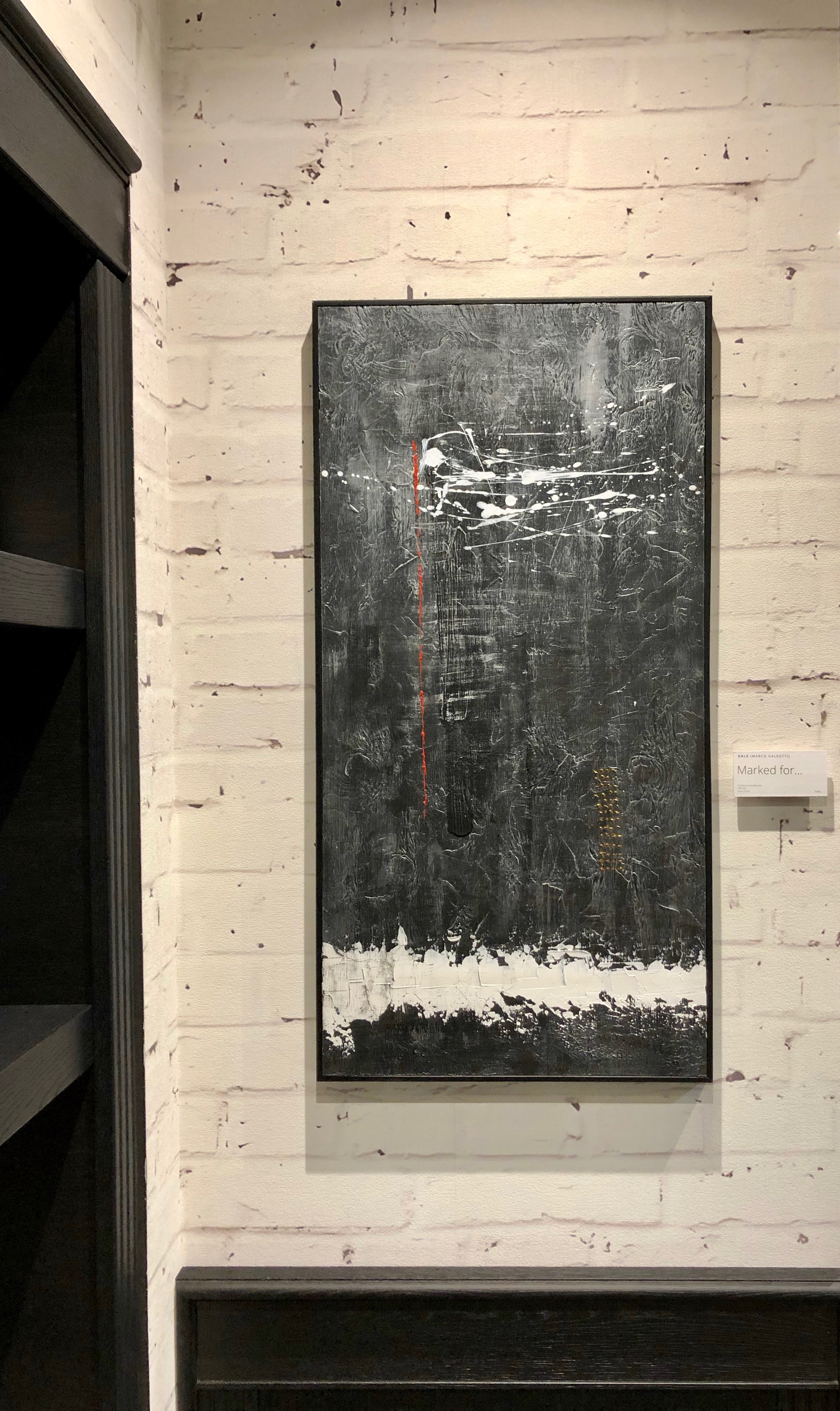 MARKED FOR... - Acrylic on 8mm plywood, 50x100cm, framed - AVAILABLE