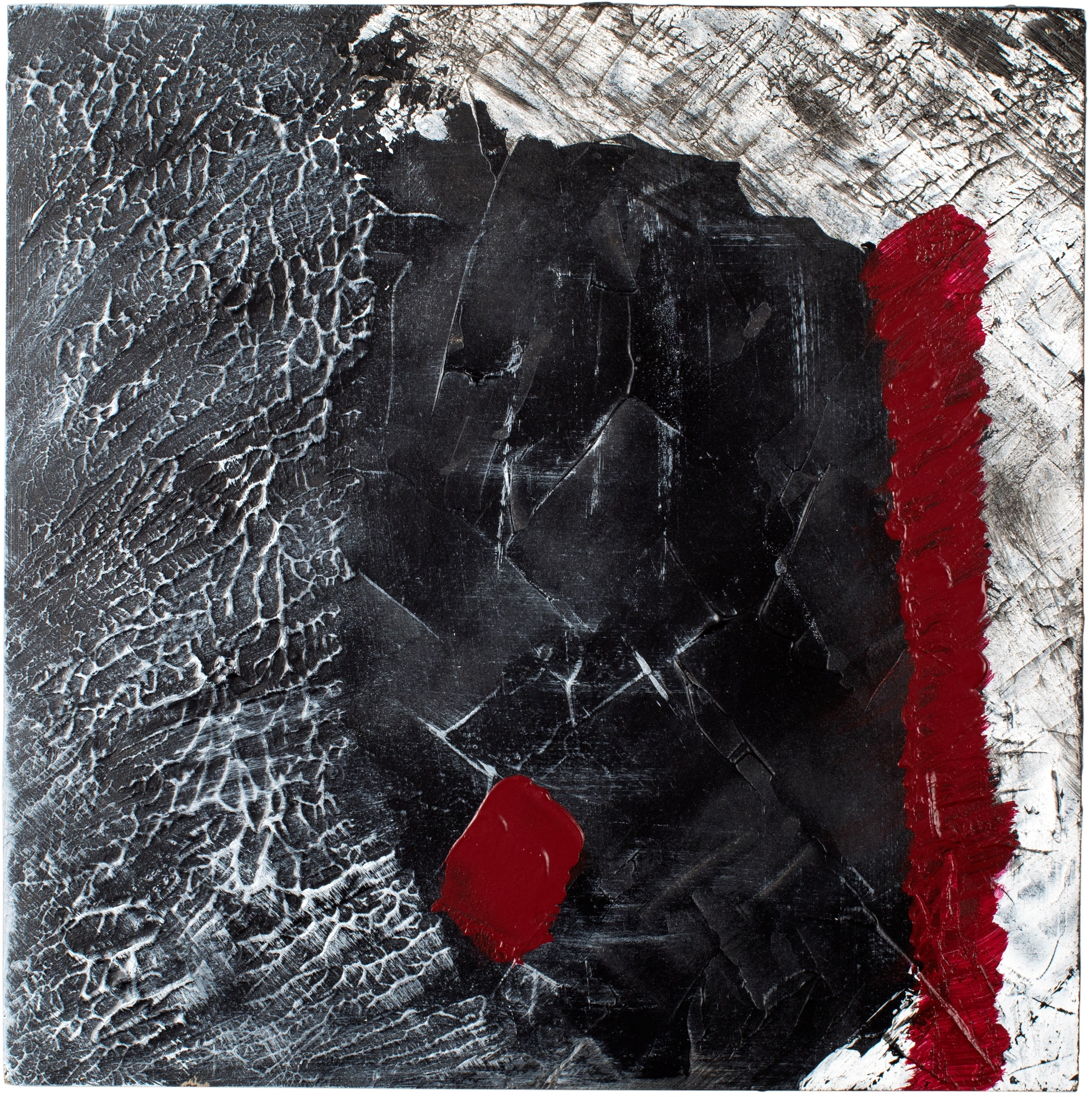 RIFLUSSO#2 - Acrylic on chipboard, 45x45cm - UNAVAILABLE