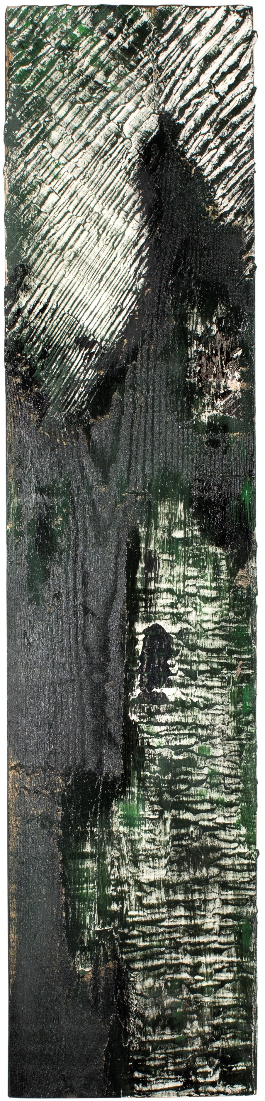 TRACCE#1 - Plaster and enamel on rough spruce board, 21.5x94cm - AVAILABLE