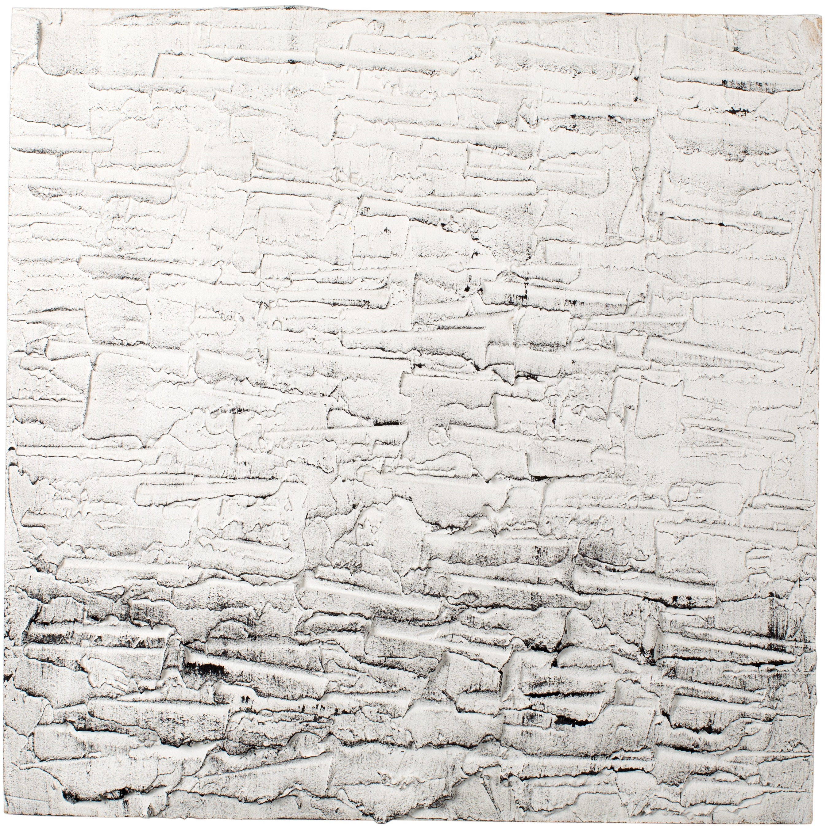 WAVES - Plaster and acrylic on chipboard, 45x45cm - SOLD
